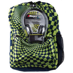 """Рюкзак """"Hypnocheck Lime"""" с наушниками, цвет синий/лайм Mojo PAX"""