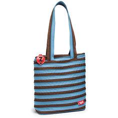 Сумка Premium Tote/Beach Bag, цвет голубой/коричневый Zipit