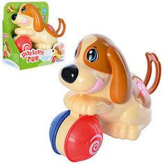 """Заводная игрушка Keenway """"Щенок с мячиком"""""""