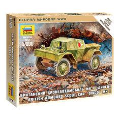 """Сборная модель Звезда """"Британский бронеавтомобиль МК-1 Динго"""", 1: 100 (сборка без клея)"""