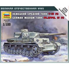"""Сборная модель Звезда """"Немецкий средний танк Т-4 F2"""", 1:100 (сборка без клея)"""