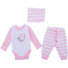 Комплект: боди, брюки, шапочка PlayToday для девочки