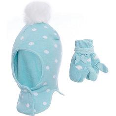 Комплект: шапка-шлем и варежки PlayToday для девочки