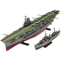Авианосец Королевских ВМС Великобритании и эскадренный миноносец типа «Трайбл» Revell