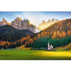Пазлы Церковь в Доломитовых Альпах, 1500 элементов Trefl