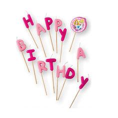 """Свечи-буквы """"Принцессы Disney - Сказочный мир"""" """"Happy Birthday"""" Procos"""