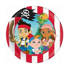"""Тарелки """"Джейк и пираты Нетландии"""" 20 см, 10 шт. Procos"""
