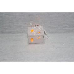 Новогоднее подвесное украшение из фарфора со светодиодной подсветкой в комплекте Magic Time