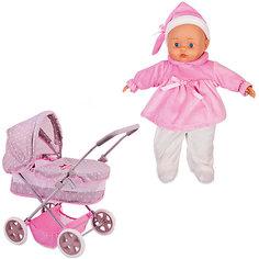 """Игровой набор Dimian """"Bambolina Boutique. Коляска с куклой"""", 36 см"""