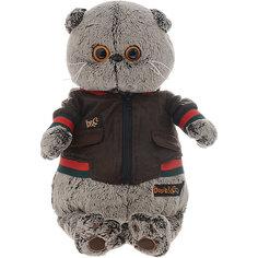 Мягкая игрушка Budi Basa Кот Басик в кожаной куртке, 30 см