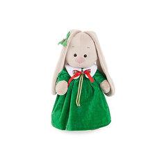 Одежда для Зайки Ми большого Budi Basa, зеленое рождественнское платье и листочек на ухо