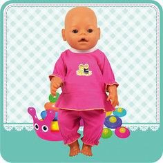 "Одежда для куклы Карапуз ""Кофточка, бриджи"", 40-42 см"
