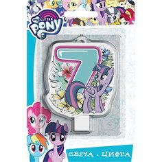 """Свеча для торта Росмэн """"My little Pony. Свеча-цифра 7"""""""