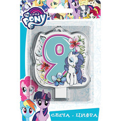 """Свеча для торта Росмэн """"My little Pony. Свеча-цифра 9"""""""
