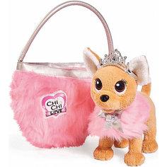 """Мягкая игрушка Simba Chi Chi Love """"Собачка-принцесса с пушистой сумкой"""", 20 см"""