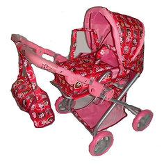 Коляска для кукол Карапуз, с переноской и сумкой