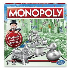 """Настольная игра Hasbro Games """"Классическая монополия"""" (обнолвенная версия)"""