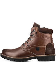 Кожаные ботинки с вставками из нубука S.Oliver
