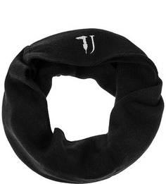 Черный шарф-хомут с вышивкой Trussardi Jeans