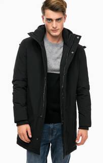 Длинная зимняя куртка со скрытым капюшоном Strellson