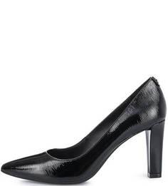 Черные кожаные туфли на каблуке Michael Michael Kors