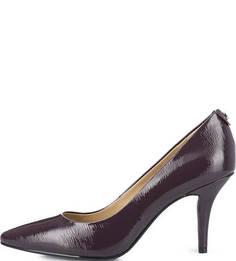 Фиолетовые кожаные туфли на каблуке Michael Michael Kors