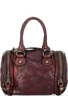 Маленькая кожаная сумка с одним отделом Campomaggi