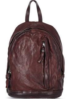 Кожаный рюкзак с одним отделом на молнии Campomaggi