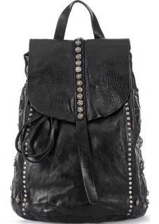 Черный кожаный рюкзак с декором Campomaggi