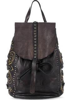 Кожаный рюкзак с декором и откидным клапаном Campomaggi