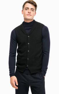 Черный шерстяной жилет Lagerfeld