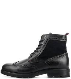Кожаные ботинки с брогированием Tommy Hilfiger