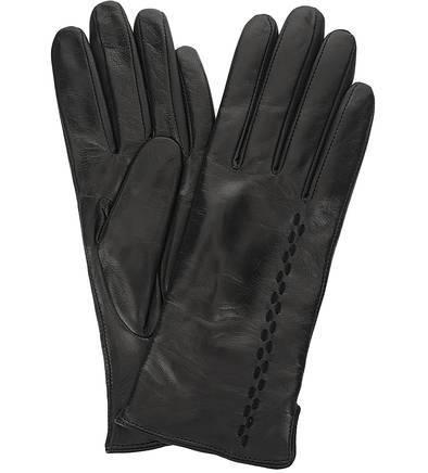 Кожаные перчатки с удлиненными пальцами
