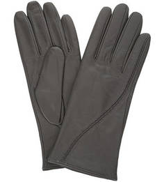 Серые перчатки с шерстяной подкладкой Eleganzza
