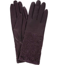 Кожаные перчатки с декоративной перфорацией Eleganzza