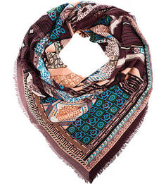 Квадратный разноцветный платок Eleganzza