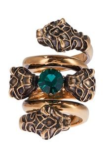 Кольцо с зеленым кристаллом Gucci