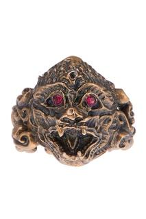 Кольцо с красными кристаллами Gucci