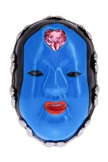 Кольцо с эмалью и кристаллом Gucci