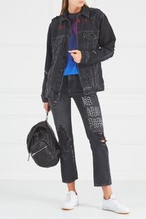 Джинсовая куртка с потертым эффектом T by Alexander Wang