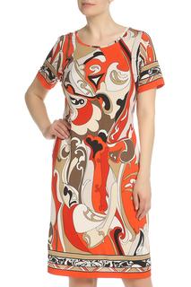 Прямое платье с цветным принтом Piero Moretti