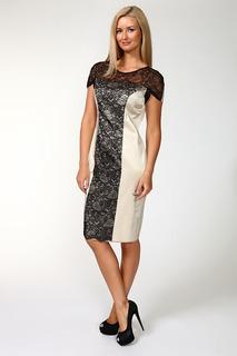 Приталенное платье с кружевом Elisa Fanti