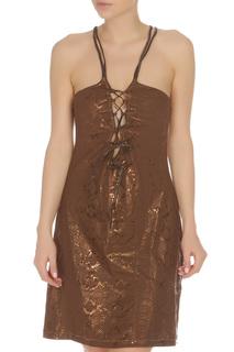 Платье полуприталенное на шнуровке Blumarine