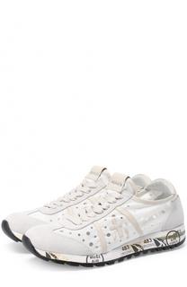 Комбинированные кроссовки Lucy-D с перфорацией Premiata