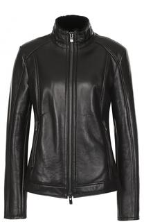 Кожаная куртка с внутренней отделкой из меха DROMe