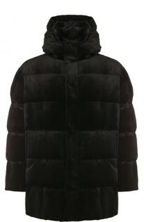 Пуховая куртка с меховой отделкой Brioni