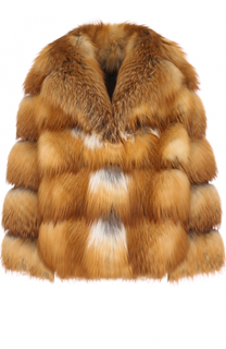 Укороченная шуба из меха лисы Simonetta Ravizza