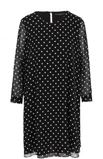 Мини-платье свободного кроя с горох Pietro Brunelli