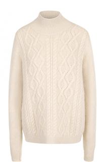 Шерстяной свитер фактурной вязки Lanvin
