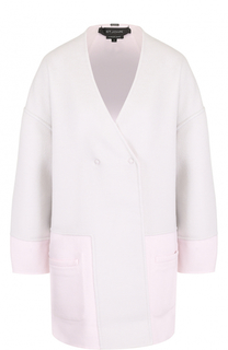 Двубортное пальто с V-образным вырезом St. John